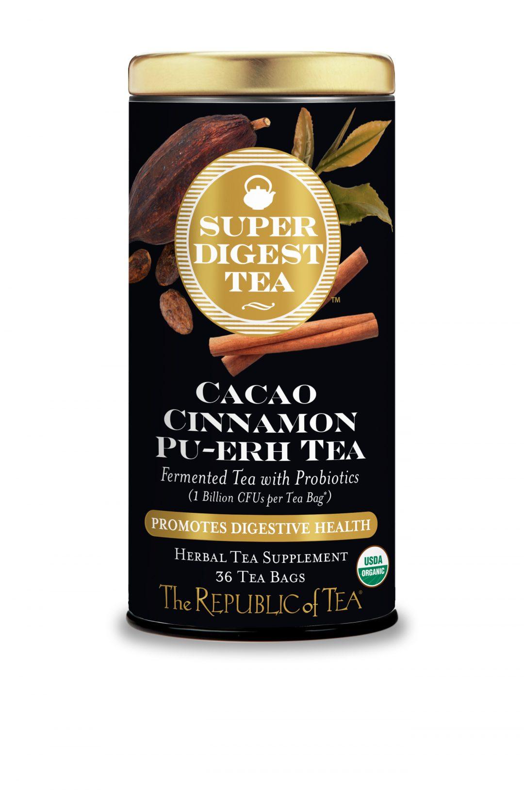 Organic Cacao Cinnamon Pu-erh SuperDigest Tea