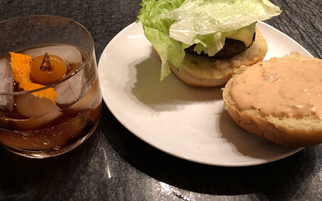 Hickory Smoke Wagyu Hamburger with Chipotle Garlic Aioli