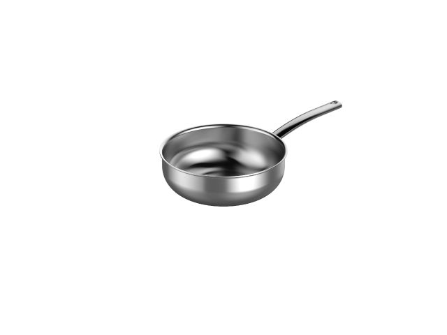 2.2-Quart Curved Sauté Pan In 5-Ply Stainless Steel