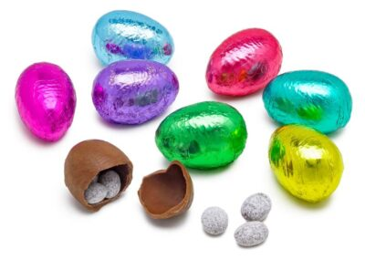 Chocolate Almond Filled Foil Egg