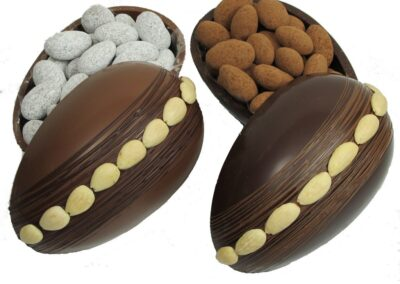 Chocolate Egg with Chocolate Almonds Inside