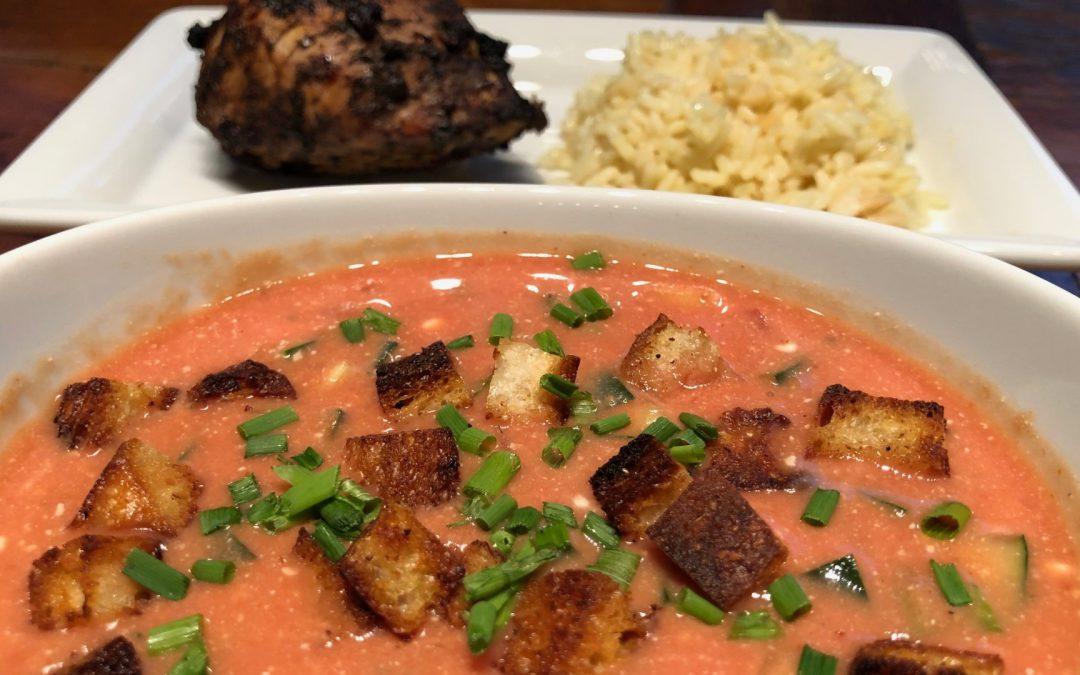 Fresh Summer Garden Tomato Soup